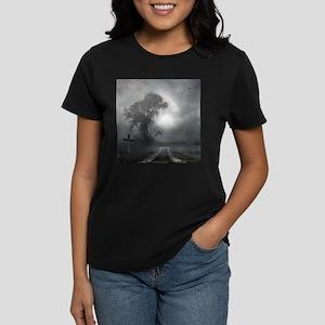 Bat Grave Night Women's Dark T-Shirt