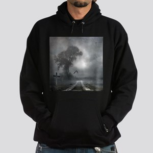 Bat Grave Night Hoodie (dark)