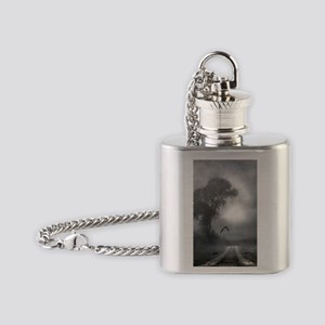 Bat Grave Night Flask Necklace