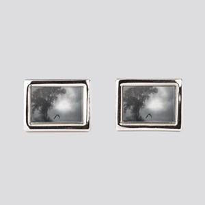 Bat Grave Night Rectangular Cufflinks