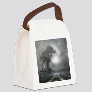 Bat Grave Night Canvas Lunch Bag