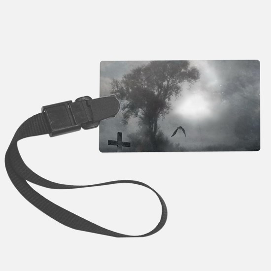 Bat Grave Night Luggage Tag