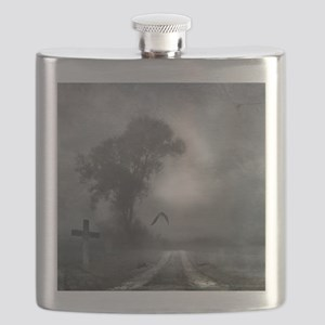 Bat Grave Night Flask