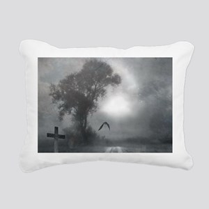 Bat Grave Night Rectangular Canvas Pillow