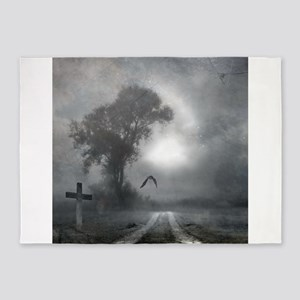 Bat Grave Night 5'x7'Area Rug