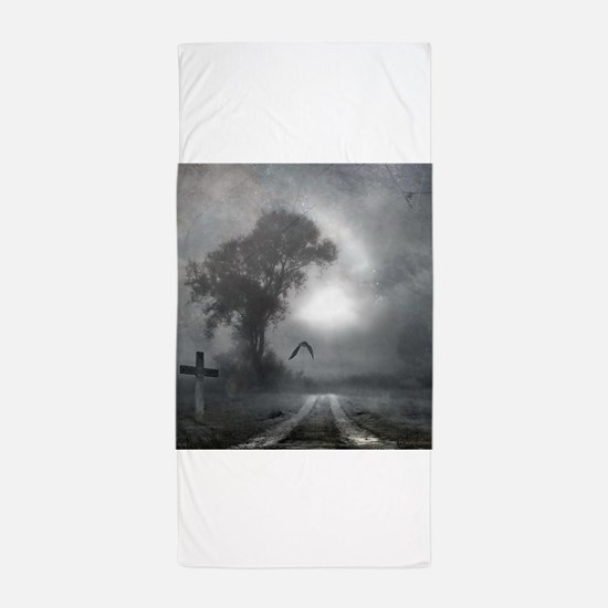 Bat Grave Night Beach Towel