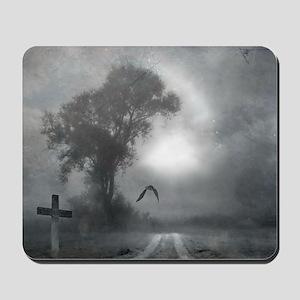 Bat Grave Night Mousepad