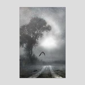 Bat Grave Night Mini Poster Print