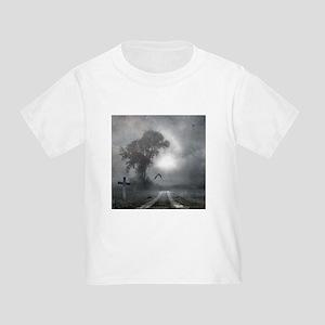 Bat Grave Night Toddler T-Shirt