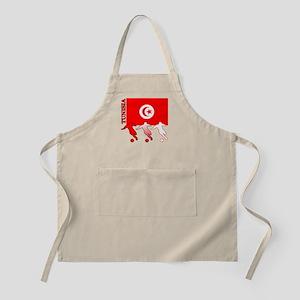Tunisia Soccer BBQ Apron