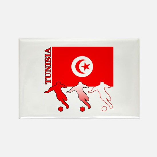 Tunisia Soccer Rectangle Magnet