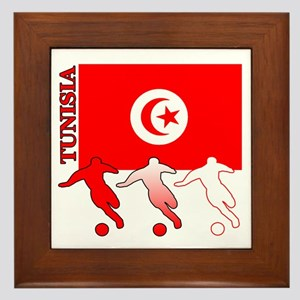 Tunisia Soccer Framed Tile