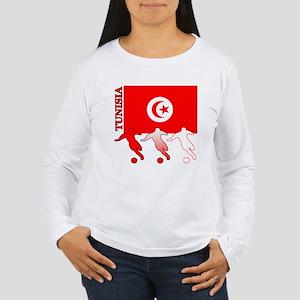 Tunisia Soccer Women's Long Sleeve T-Shirt