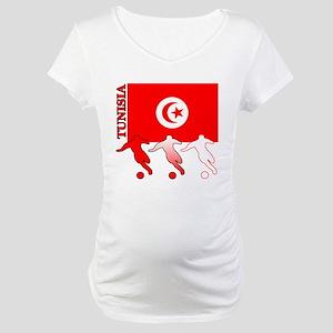 Tunisia Soccer Maternity T-Shirt