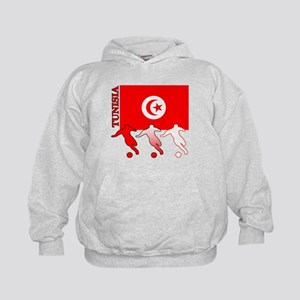 Tunisia Soccer Kids Hoodie