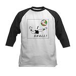 i shall vball Kids Baseball Tee