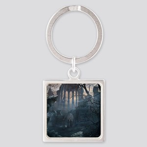 Druid Temple Square Keychain
