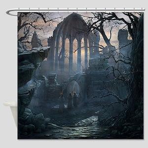 Druid Temple Shower Curtain