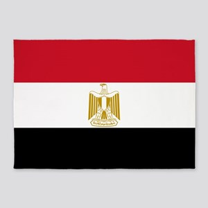 Flag Of Egypt 5'x7'area Rug