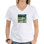 kerala_lungi Women's V-Neck T-Shirt