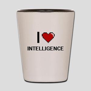 I Love Intelligence Shot Glass