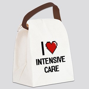 I Love Intensive Care Canvas Lunch Bag