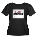 I Love CROFTERS Women's Plus Size Scoop Neck Dark