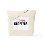 I Love CROFTERS Tote Bag