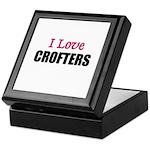 I Love CROFTERS Keepsake Box