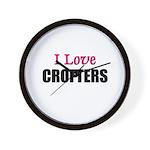 I Love CROFTERS Wall Clock