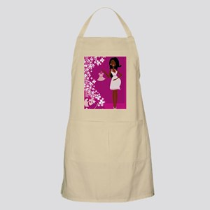 african american pregnant Apron