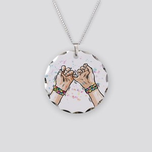 best friends forever Necklace Circle Charm