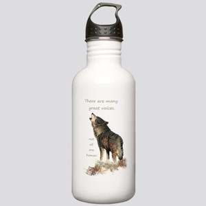 Many Great Voices Inspirational Wolf Quote Water B