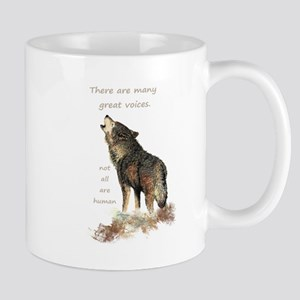 Many Great Voices Inspirational Wolf Quote Mugs