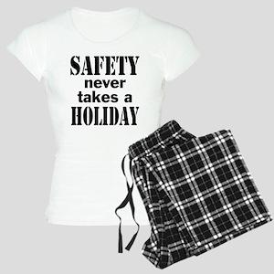 Safety Never Takes a Holida Women's Light Pajamas