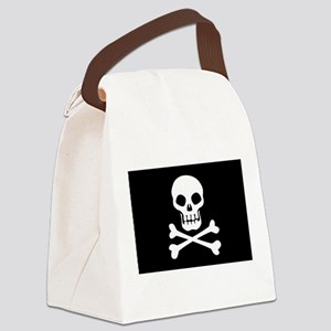 Pirate Flag Skull And Crossbones Canvas Lunch Bag
