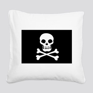 Pirate Flag Skull And Crossbones Square Canvas Pil