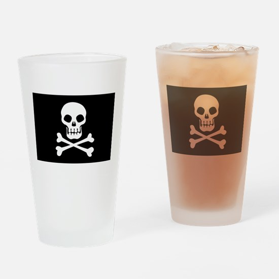 Pirate Flag Skull And Crossbones Drinking Glass