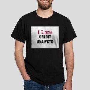 I Love CREDIT ANALYSTS Dark T-Shirt