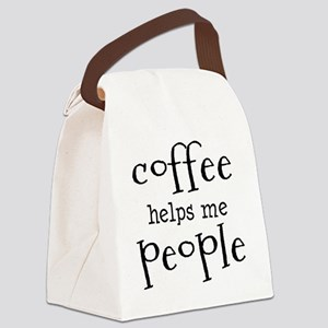 coffee helps me people Canvas Lunch Bag
