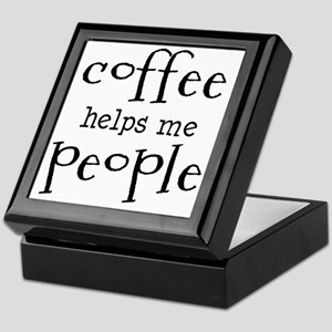 coffee helps me people Keepsake Box