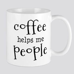 coffee helps me people Mug