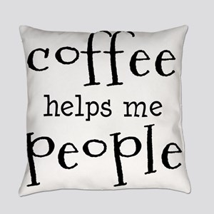 coffee helps me people Everyday Pillow