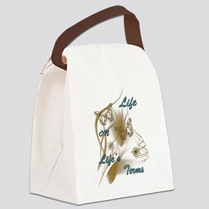 Life On Lifes Terms Canvas Lunch Bag