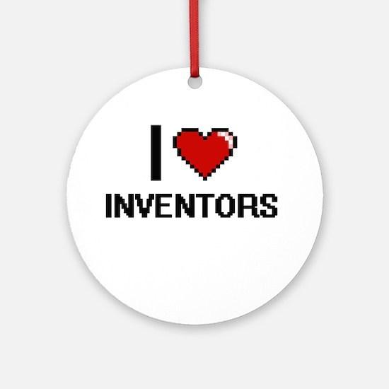 I Love Inventors Ornament (Round)