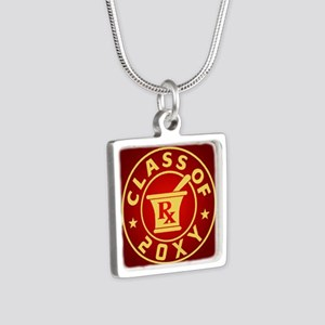 Class of 20?? Pharmacy Silver Square Necklace