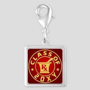 Class of 20?? Pharmacy Silver Square Charm