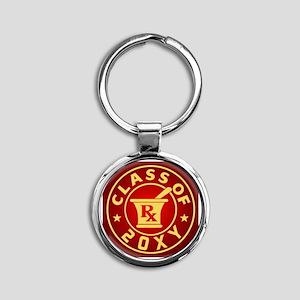 Class of 20?? Pharmacy Round Keychain