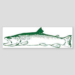 Green trout Sticker (Bumper)