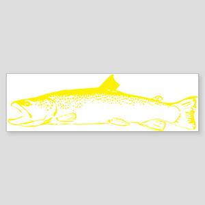 Yellow trout Sticker (Bumper)